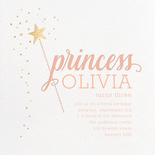 Princess Party - Sugar Paper - Kids' birthday