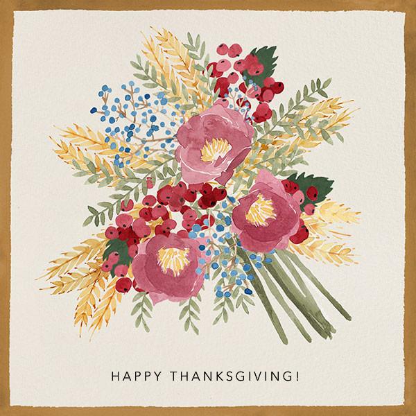 Harvest Bouquet - Paperless Post - Thanksgiving