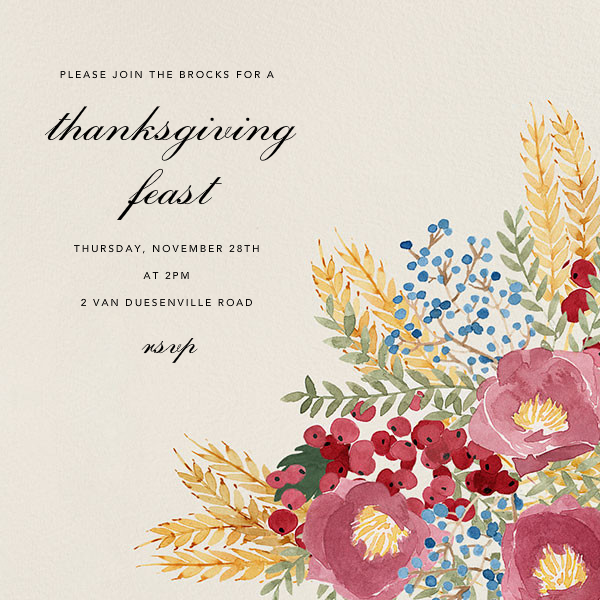 Harvest Bouquet - Square - Paperless Post - Autumn entertaining