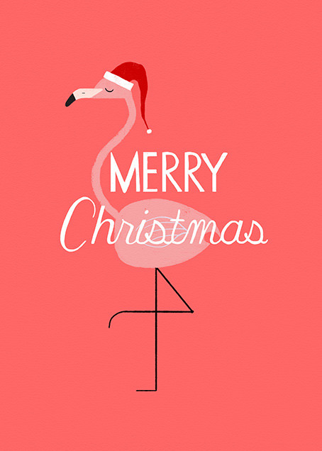 Merry and Bright Pink - Paperless Post - Christmas