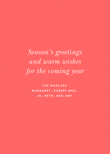 Merry and Bright Pink - Paperless Post - Christmas - card back