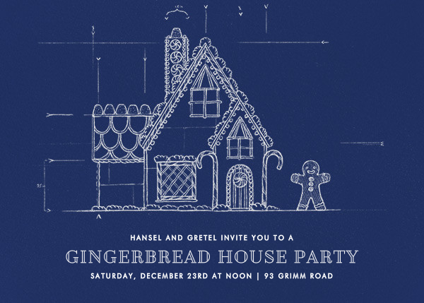 Gingerbread Blueprint - Paperless Post - Holiday party