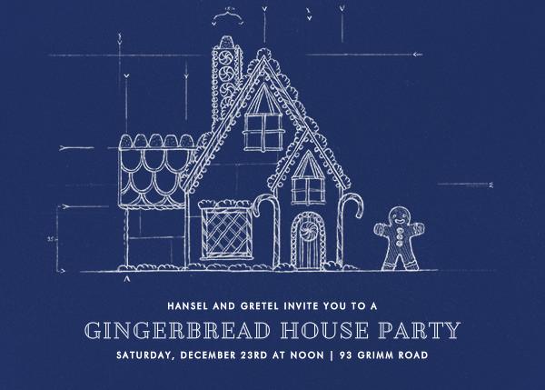 Gingerbread Blueprint - Paperless Post