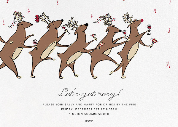 Reindeer Hop - Paperless Post - Holiday party