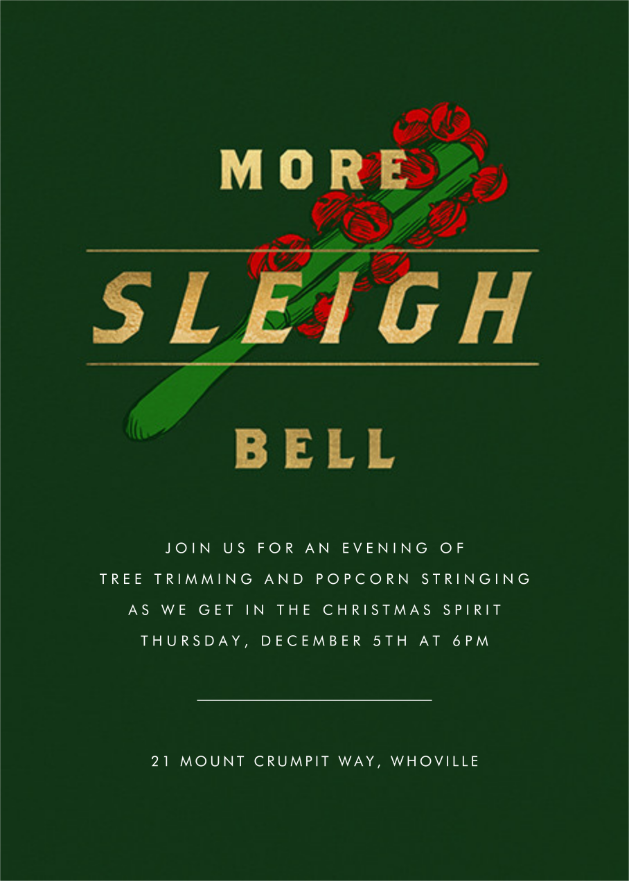 More Sleigh Bell - Paperless Post - Winter parties