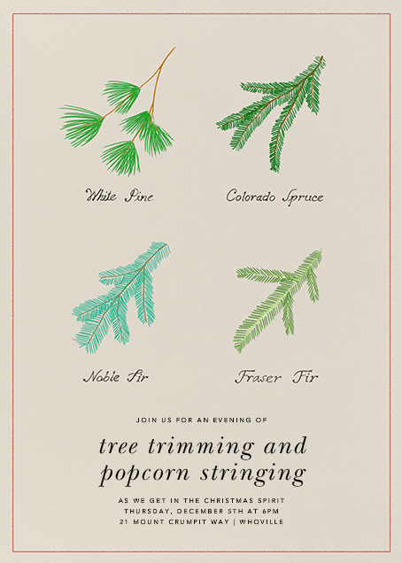 Conifer Classification - Paperless Post - Christmas party