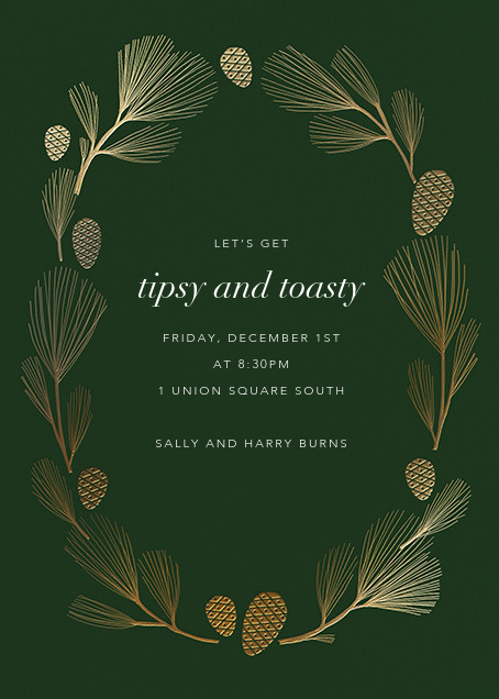 Sugar Pine - Hunter/Gold - Paperless Post - Winter parties