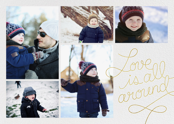 Love Is All Around - Gold - Paperless Post - New Year