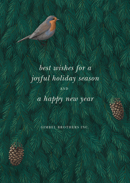 Robin in Blue - Paperless Post - Holiday cards