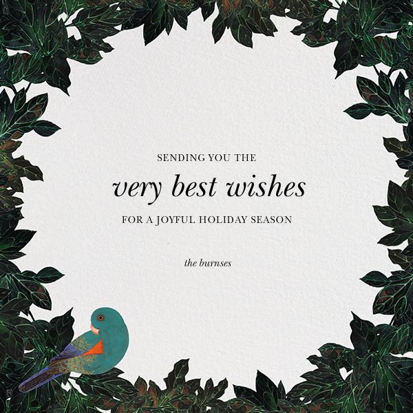 Parrot in a Pear Tree - Oscar de la Renta - Holiday cards