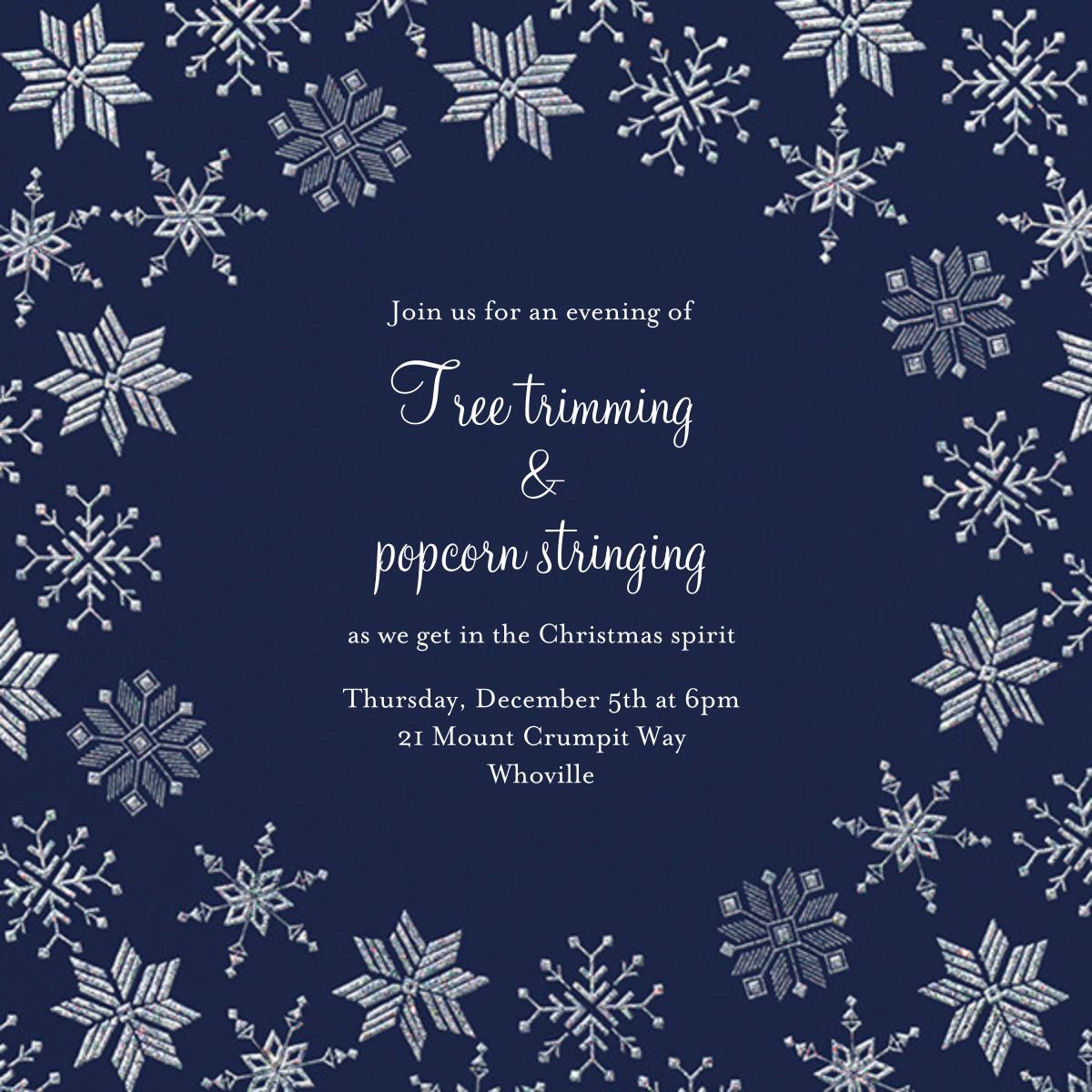 Carolling Season - Navy - Paperless Post - Winter entertaining
