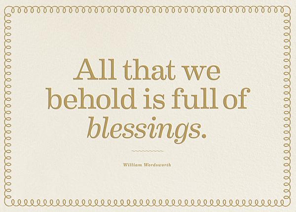 Full of Blessings - The Indigo Bunting - Thanksgiving