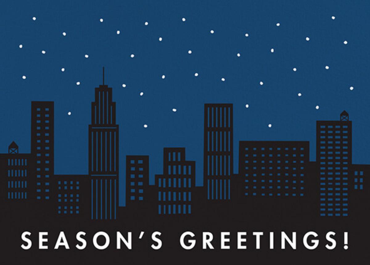 City Snow - Greetings - The Indigo Bunting - Holiday cards