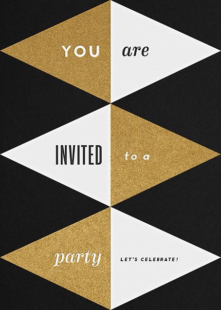 Deco Invite - Black And Gold - The Indigo Bunting - The Indigo Bunting