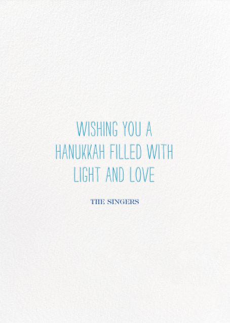 Oy to the World - Blue - Mr. Boddington's Studio - Hanukkah - card back