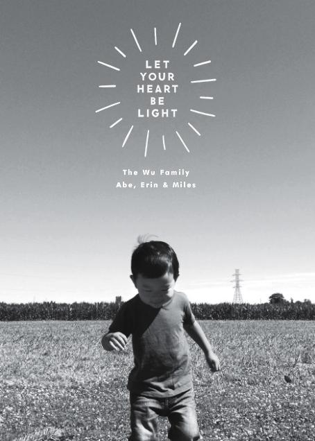 Heart Be Light (Photo) - The Indigo Bunting - Holiday cards