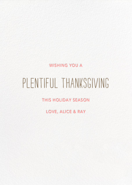 What a Beautiful Turkey - Yellow - Mr. Boddington's Studio - Thanksgiving - card back