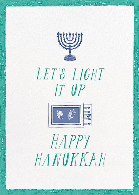 Where Are the Matches - Teal - Mr. Boddington's Studio - Hanukkah