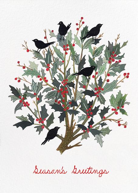 Black Bird Wreath (Becca Stadtlander) - Red Cap Cards