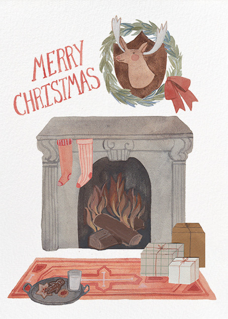 Christmas Fireplace (Kelsey Garrity Riley) - Red Cap Cards - null