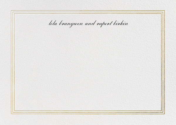 Triple Interior Border (Horizontal) - Gold - Paperless Post - Personalized stationery