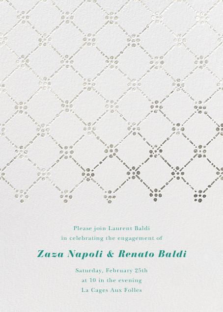 Pearl Embroidery (Tall) - Silver - Oscar de la Renta - Engagement party