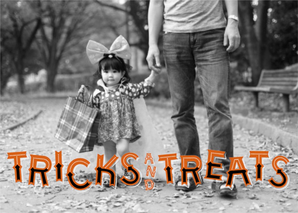 Tricks and Treats (Photo) - Paperless Post - Halloween