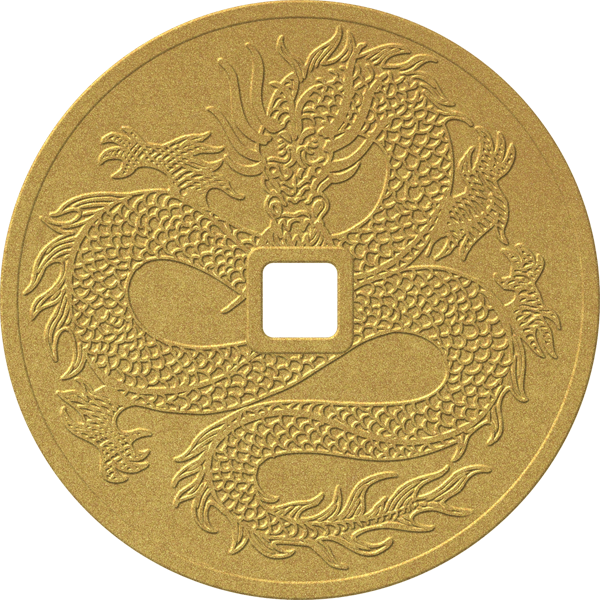 Dragon Coin - Gold - Paperless Post - Lunar New Year