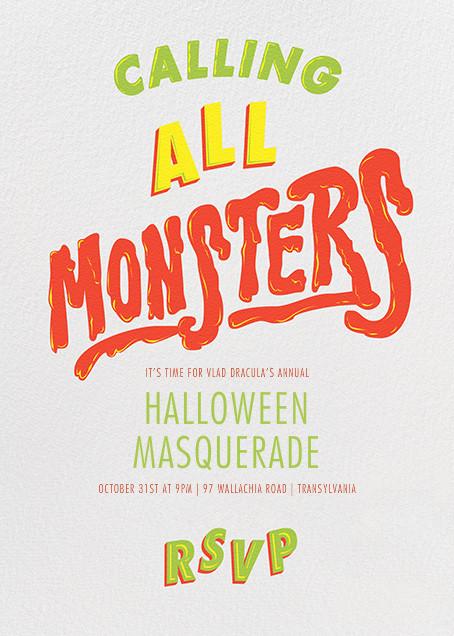 Horror Strikes at Midnight - Ivory - Paperless Post - Halloween