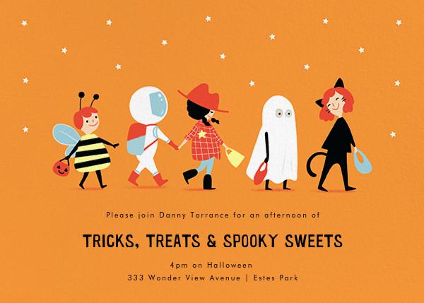 Costume Parade - Paperless Post - Kids' Halloween invitations