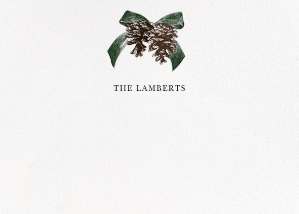 Winter Pine (Horizontal) - Green - Paperless Post