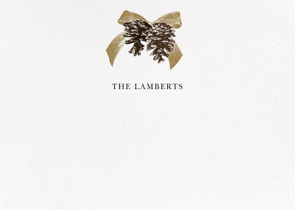 Winter Pine (Horizontal) - Sepia - Paperless Post