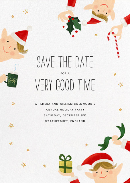 Little Elves - Bellini - Paperless Post - Save the date