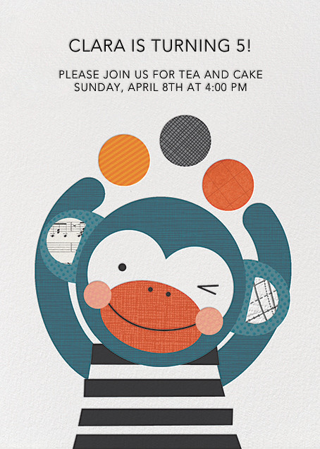 Monkey Juggler - Petit Collage - Kids' birthday