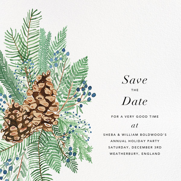 Juniper and Pine - Paperless Post - Save the date