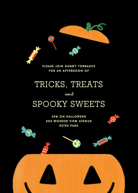 Candy Bucket - Black - Paperless Post - Kids' Halloween invitations