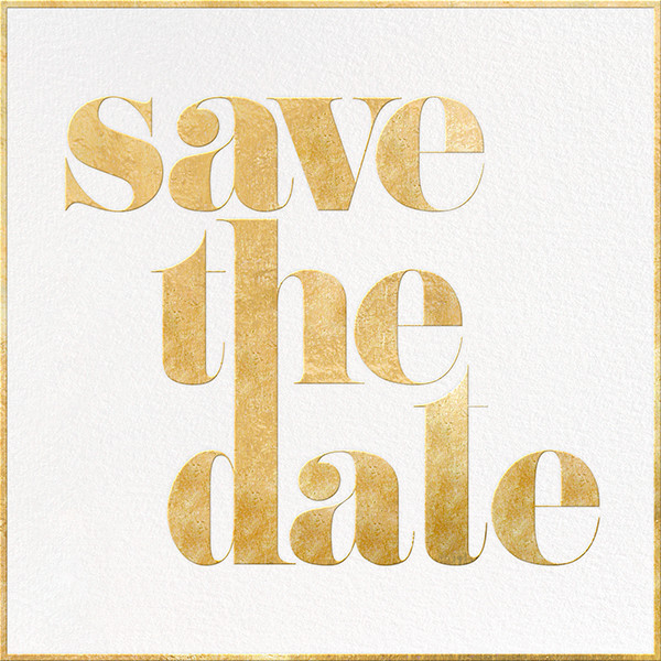 A Golden Date - White/Gold - kate spade new york - Party save the dates
