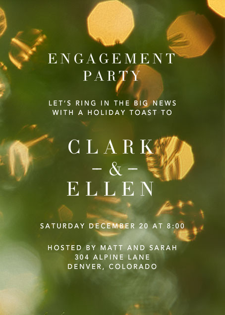 Holiday Engagement - Crate & Barrel - Engagement party