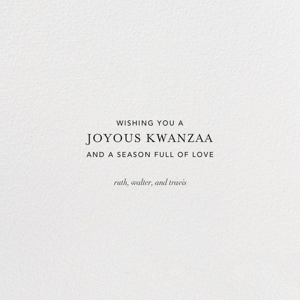 Umoja Photo - Red - Paperless Post - Kwanzaa - card back