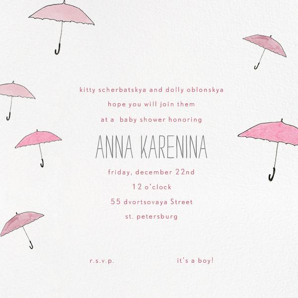 Umbrellas - Pink - Paperless Post - Baby shower