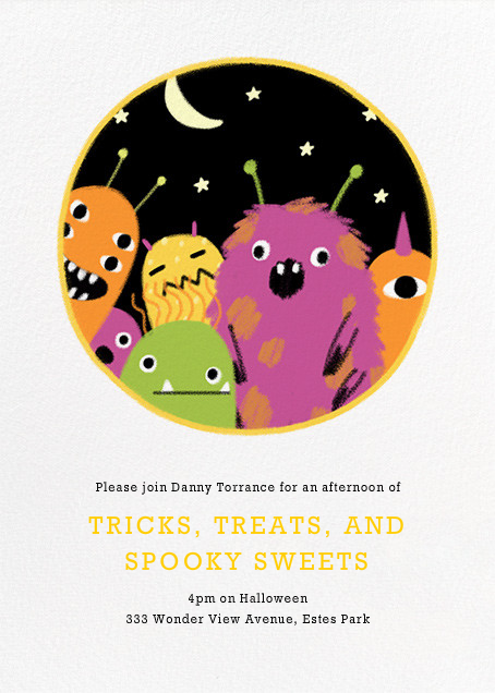 Party Monsters - Paperless Post - Halloween
