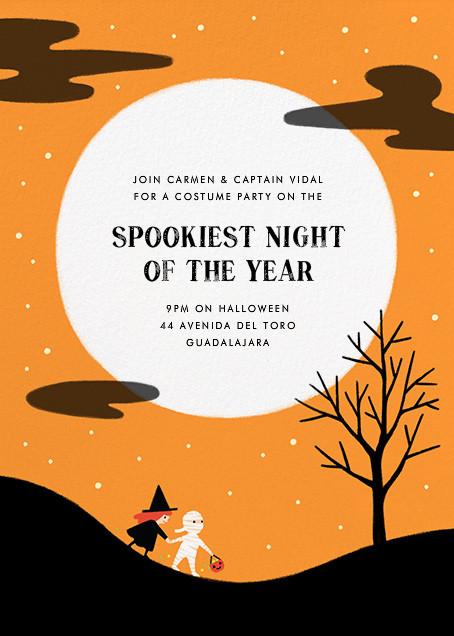 Little Full Moon - Paperless Post - Halloween
