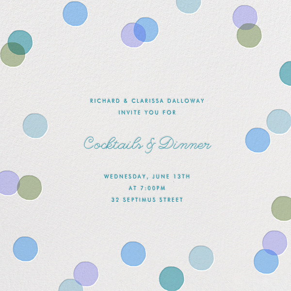 Carnaby - Light Blue - Paperless Post - Cocktail party