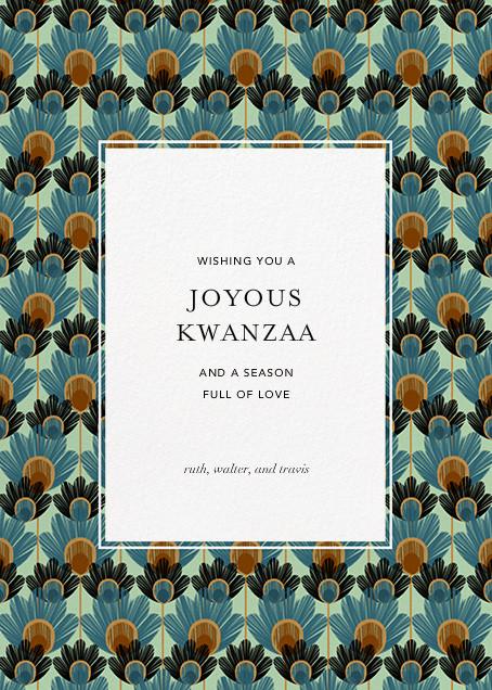 Mbulu Feathers - Blue - Paperless Post - Kwanzaa