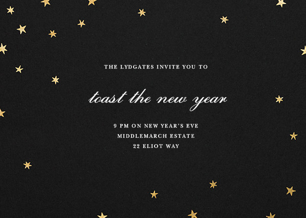 Nightly - Black/Gold - Paperless Post - New Year's Eve