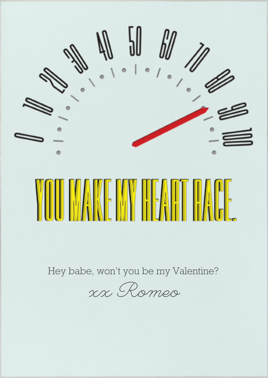 You Make My Heart Race - Paperless Post - Valentine's Day