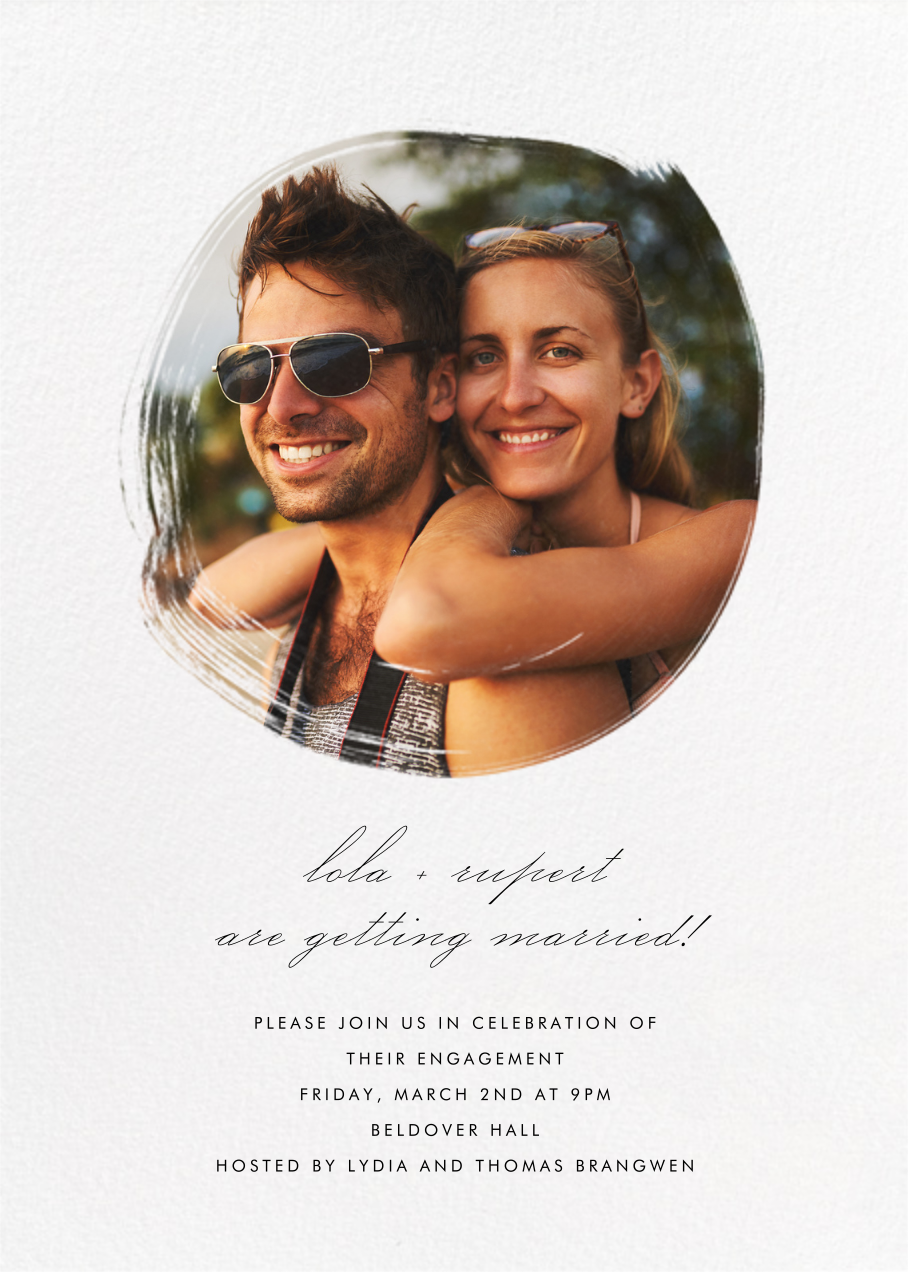 Painted Circle - Paperless Post - Engagement party