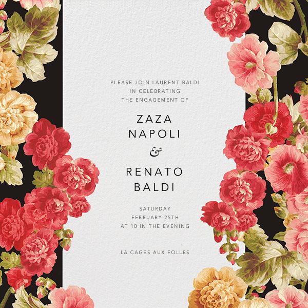 Garden Floral Ikat - Oscar de la Renta - Engagement party