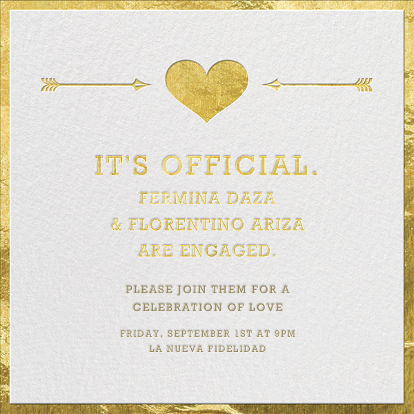 Cupid's Target - Gold - Jonathan Adler - Engagement party