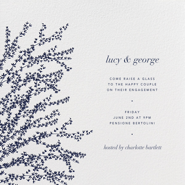 Forsythia (Navy) - Paperless Post - Engagement party
